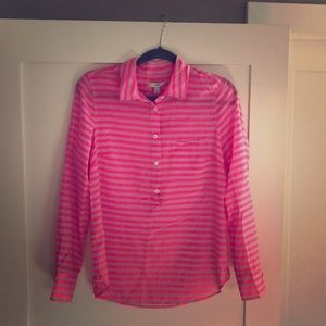 Pink light weight blouse